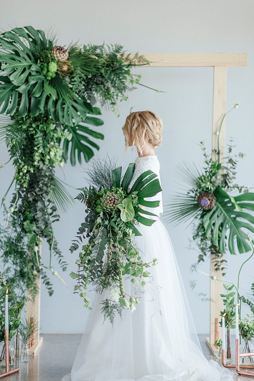 Botanical Greenery and Copper Wedding Inspiration